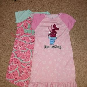 2  pink nightgowns bundle
